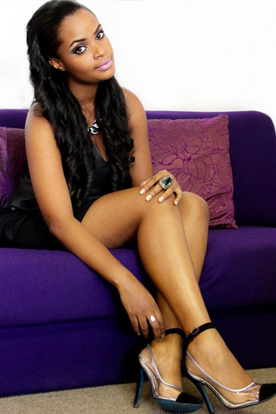 Dillish Matthew gorgeous on the couch