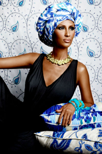 elegant and graceful Iman