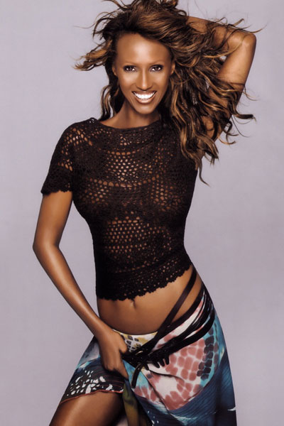 graceful African woman Iman