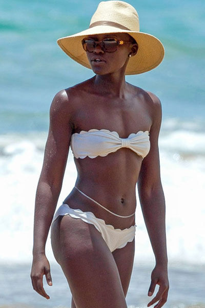 Lupita Nyong'o hot on the beach