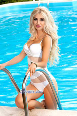 hot Ukrainian girl by the pool