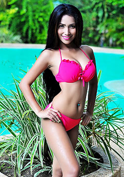 Filipina babe pretty in pink two-piece