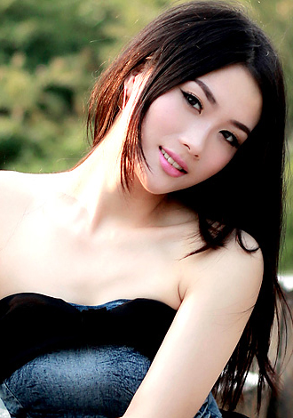 Chinese model in black