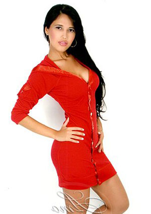 Hot Colombiana in Red