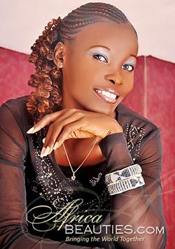 Delightful Ghana babe wearing black