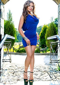 ukranian girl outdoors: