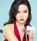 aesthetic-chinese-babe-in-a-pretty-red-dress
