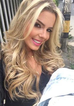 blonde Colombian magazine editor