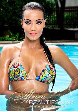 Hot Colombian model at the pool