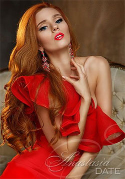 hot redhead in red dress