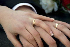 Mail order bride with wedding ring