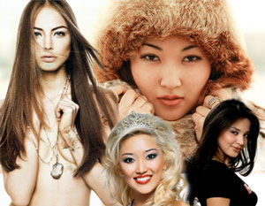 The many faces of exotic Kazakh beauty