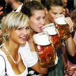 Kiev girls drinking beer