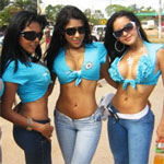 Three sexy Medellin bar girls