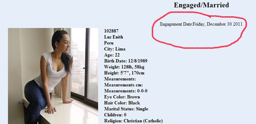 Dating profile of girl who got engaged