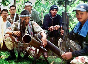 Abu Sayyaf Terrorists in Philippines jungle