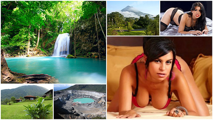Costa Rican girls and places to visit