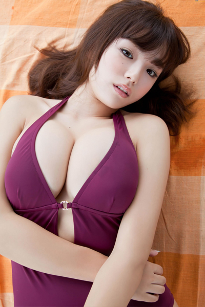 luscious Ai Shinozaki in tempting purple