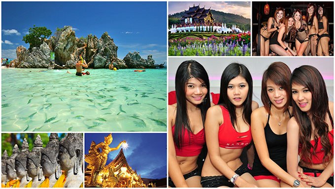Thailand sceneries and women