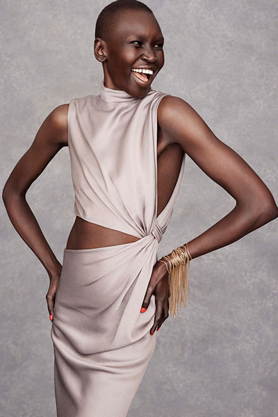 the happy face of Alek Wek
