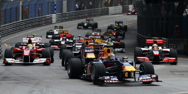 The Monaco Grand Prix car racing