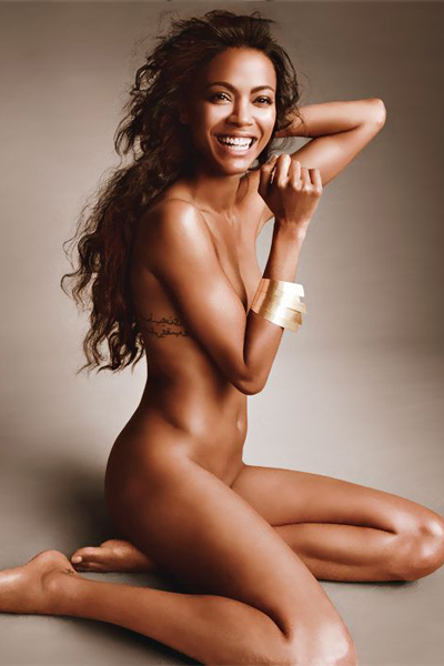 Zoe Saldana in a provocative pose