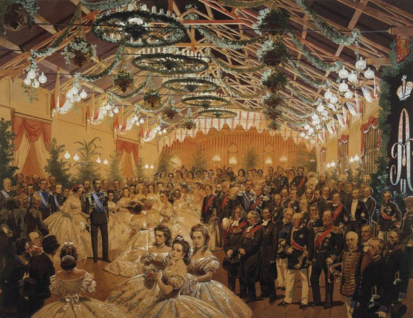 men and women of Russia in a painting