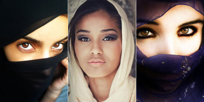 the attractive Muslim women