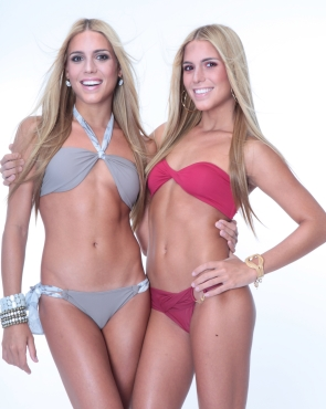Beatriz and Branca Feres in bikinis