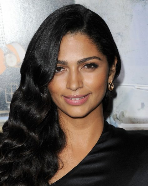 Camila Alves - in a Black Shirt