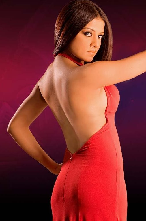 Celina Jaitley in a Red Dress