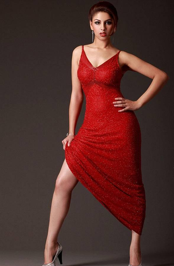 Richa Gangopadhyay - In A Red Dress