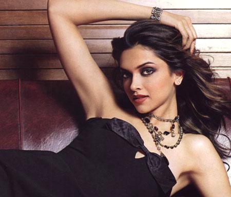 Deepika Padukone In A Black Dress