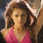 Bollywood actress Anjana Sukhani in red dress