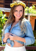 Brazilian babe in a denim longsleeves and flower crown