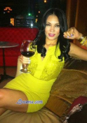 Dominican girl drinking wine
