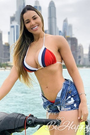 hot Brazilian woman with a great smile