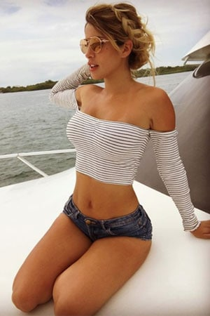 hot Peruvian babe on the yacht
