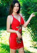 lovely Filipina girl in red dress