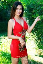 lovely Filipina girl in red dress