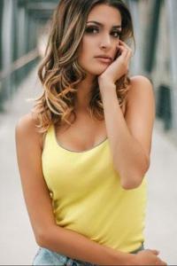 simple brazilian model in yellow tops