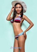 slim Filipina girl in a bikini