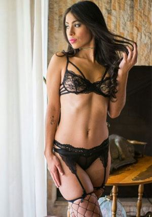 sultry Colombian Physiotherapist in laced lingerie