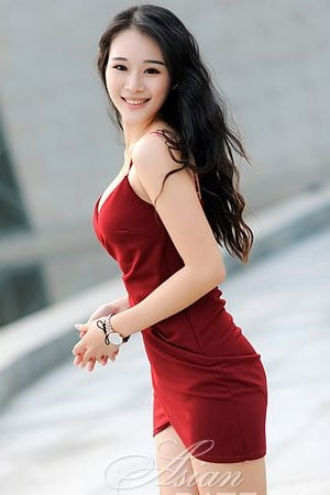cute and curly Asian girl from China