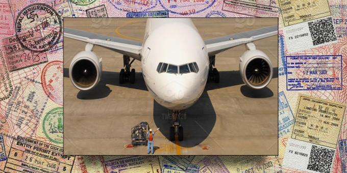 airplane and visa