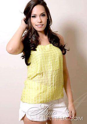 alluring Brazilian babe wearing yellow blouse