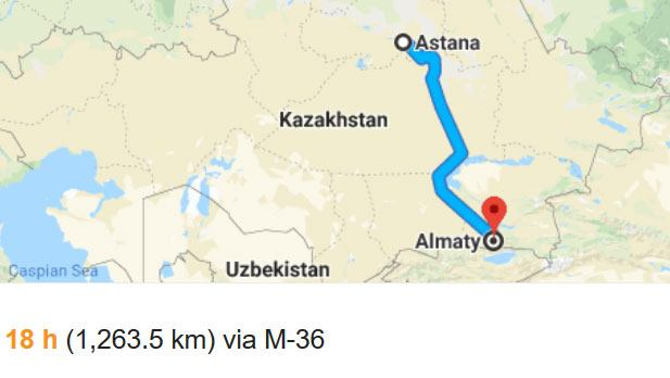 Almaty travel time