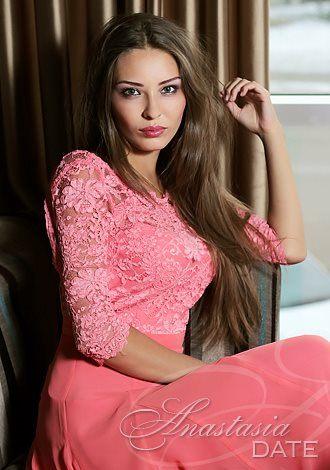Almaty girl in a nice pink dress