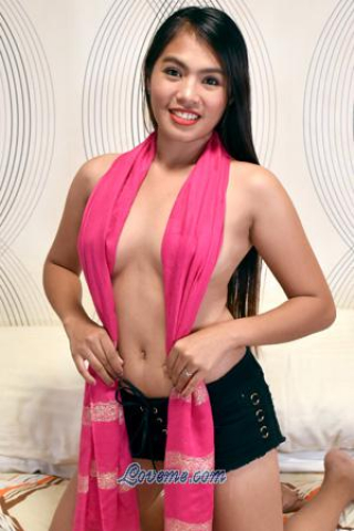 beautiful Filipina girl wearing pink shawl