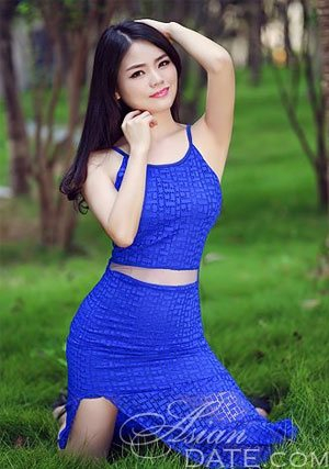 blooming Chinese doctor in blue
